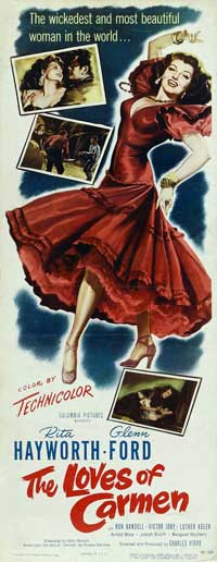 The Loves of Carmen - 14 x 36 Movie Poster - Insert Style A