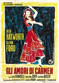 The Loves of Carmen - 27 x 40 Movie Poster - Italian Style D
