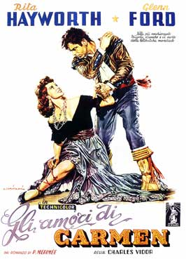 The Loves of Carmen - 11 x 17 Movie Poster - Italian Style D