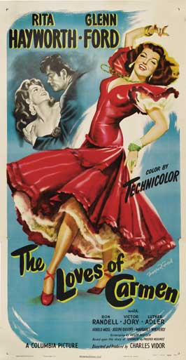 The Loves of Carmen - 20 x 40 Movie Poster - Style C