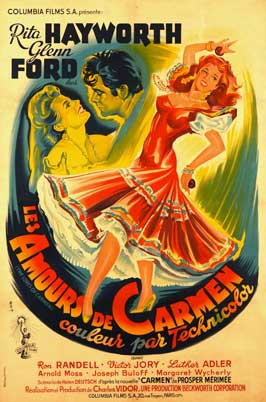 The Loves of Carmen - 11 x 17 Movie Poster - French Style B
