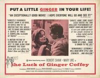 The Luck of Ginger Coffey - 22 x 28 Movie Poster - Half Sheet Style A