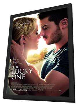 The Lucky One - 27 x 40 Movie Poster - Style A - in Deluxe Wood Frame