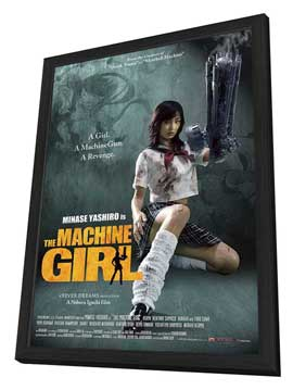 The Machine Girl - 11 x 17 Movie Poster - Style A - in Deluxe Wood Frame
