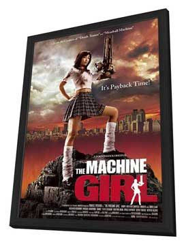 The Machine Girl - 11 x 17 Movie Poster - Style B - in Deluxe Wood Frame