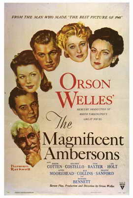 The Magnificent Ambersons - 27 x 40 Movie Poster - Style A