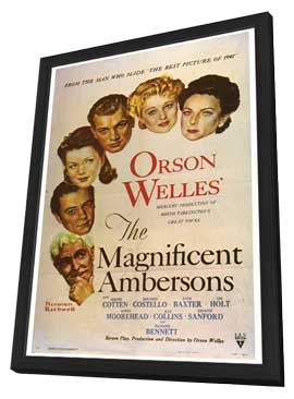 The Magnificent Ambersons - 27 x 40 Movie Poster - Style A - in Deluxe Wood Frame