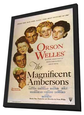 The Magnificent Ambersons - 11 x 17 Movie Poster - Style A - in Deluxe Wood Frame