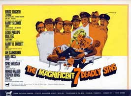 The Magnificent Seven Deadly Sins - 11 x 14 Movie Poster - Style A