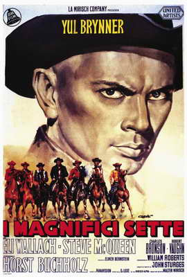 The Magnificent Seven - 27 x 40 Movie Poster - Italian Style A