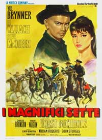 The Magnificent Seven - 27 x 40 Movie Poster - Italian Style B