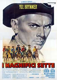The Magnificent Seven - 27 x 40 Movie Poster - Italian Style D