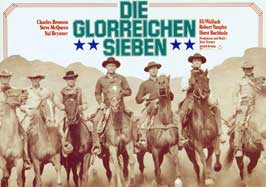 The Magnificent Seven - 27 x 40 Movie Poster - German Style A