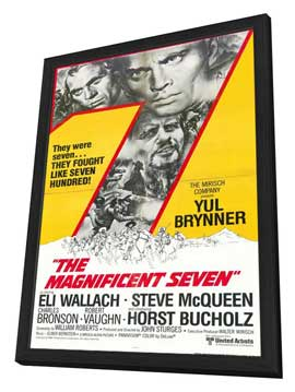 The Magnificent Seven - 11 x 17 Movie Poster - Style D - in Deluxe Wood Frame