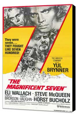 The Magnificent Seven - 11 x 17 Movie Poster - Style D - Museum Wrapped Canvas