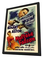The Maltese Falcon - 27 x 40 Movie Poster - Style B - in Deluxe Wood Frame
