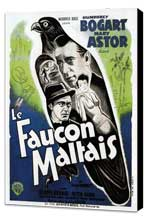 The Maltese Falcon - 11 x 17 Movie Poster - French Style D - Museum Wrapped Canvas
