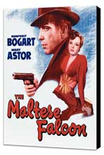 The Maltese Falcon - 27 x 40 Movie Poster - Style G - Museum Wrapped Canvas