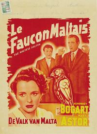 The Maltese Falcon - 11 x 17 Movie Poster - Belgian Style F
