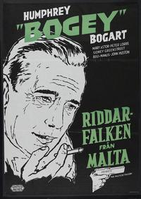 The Maltese Falcon - 27 x 40 Movie Poster - Swedish Style I