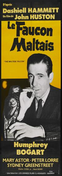The Maltese Falcon - 14 x 36 Movie Poster - French Style A