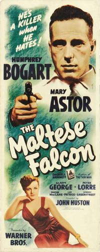 The Maltese Falcon - 14 x 36 Movie Poster - Insert Style A
