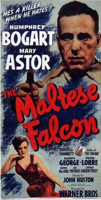 The Maltese Falcon - 14 x 36 Movie Poster - Insert Style B