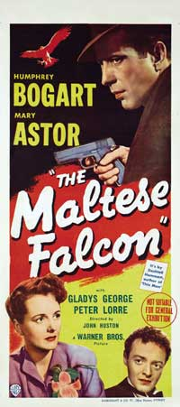 The Maltese Falcon - 13 x 30 Movie Poster - Australian Style A