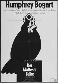 The Maltese Falcon - 27 x 40 Movie Poster - German Style A