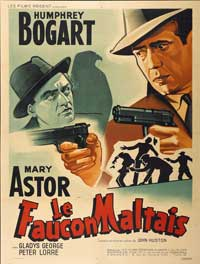 The Maltese Falcon - 27 x 40 Movie Poster - French Style A