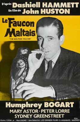 The Maltese Falcon - 27 x 40 Movie Poster - French Style B