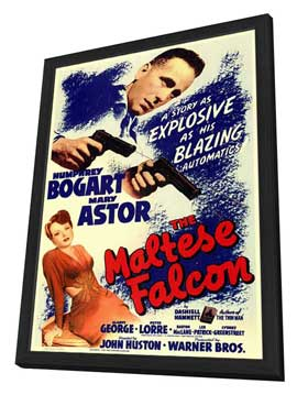The Maltese Falcon - 11 x 17 Movie Poster - Style B - in Deluxe Wood Frame