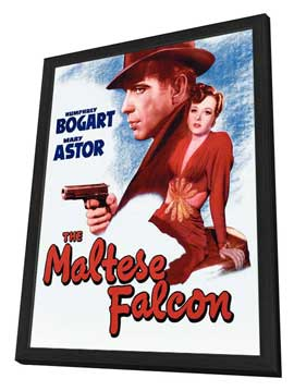 The Maltese Falcon - 27 x 40 Movie Poster - Style G - in Deluxe Wood Frame
