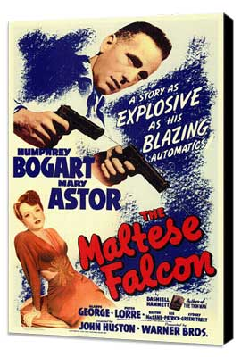 The Maltese Falcon - 11 x 17 Movie Poster - Style B - Museum Wrapped Canvas