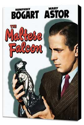 The Maltese Falcon - 11 x 17 Movie Poster - Style J - Museum Wrapped Canvas