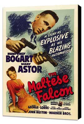 The Maltese Falcon - 27 x 40 Movie Poster - Style B - Museum Wrapped Canvas