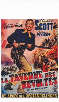 The Man Behind the Gun - 11 x 17 Movie Poster - Belgian Style A