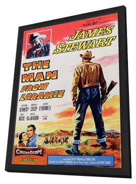 The Man from Laramie - 11 x 17 Movie Poster - Style A - in Deluxe Wood Frame