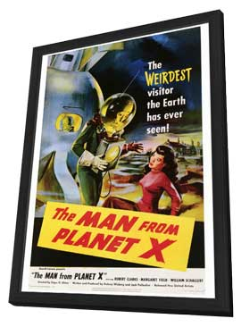 The Man from Planet X - 27 x 40 Movie Poster - Style A - in Deluxe Wood Frame