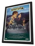 Man from Snowy River, The - 27 x 40 Movie Poster - Australian Style A - in Deluxe Wood Frame