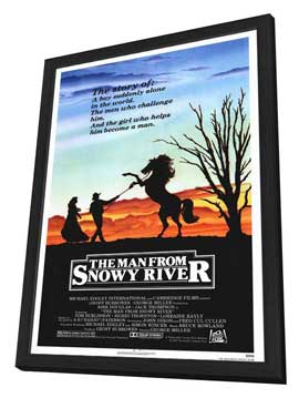 Man from Snowy River, The - 27 x 40 Movie Poster - Style A - in Deluxe Wood Frame
