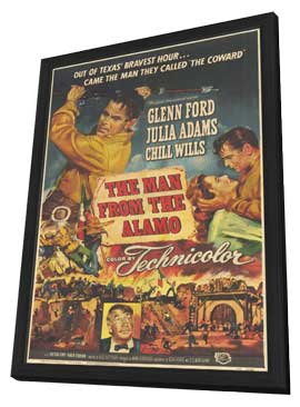 The Man from the Alamo - 11 x 17 Movie Poster - Style A - in Deluxe Wood Frame