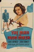 The Man in the Iron Mask - 27 x 40 Movie Poster - Style B