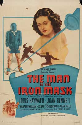 The Man in the Iron Mask - 11 x 17 Movie Poster - Style B