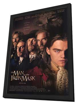 The Man in the Iron Mask - 11 x 17 Movie Poster - Style A - in Deluxe Wood Frame