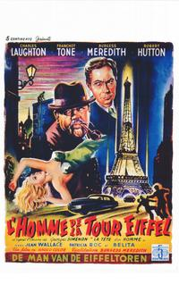 The Man on the Eiffel Tower - 14 x 22 Movie Poster - Belgian Style A