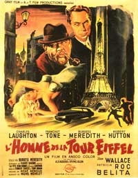 The Man on the Eiffel Tower - 11 x 17 Movie Poster - French Style A