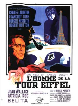 The Man on the Eiffel Tower - 11 x 17 Movie Poster - French Style C