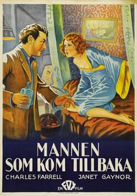 The Man Who Came Back - 27 x 40 Movie Poster - Swedish Style A