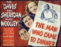 The Man Who Came to Dinner - 22 x 28 Movie Poster - Half Sheet Style A